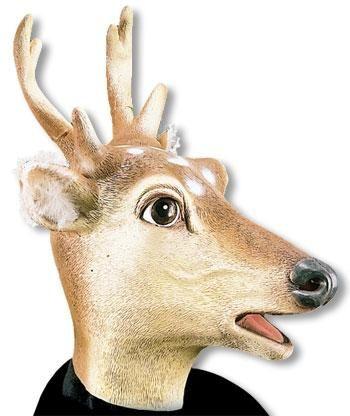 Rehbock Maske aus Latex