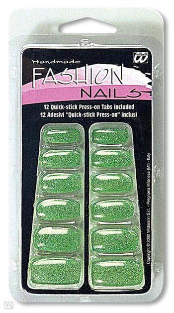 Glitzer Fingernägel grün