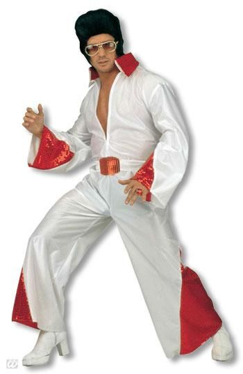King of Rock costume with red glitter S