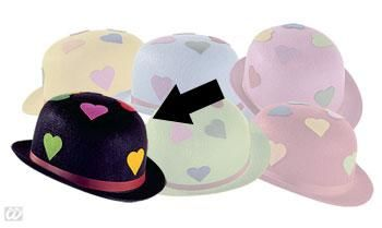 Black party hat with heart