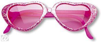 Mädchen Herz Sonnenbrille Pink