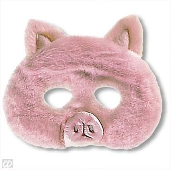 Children mask pig with plush