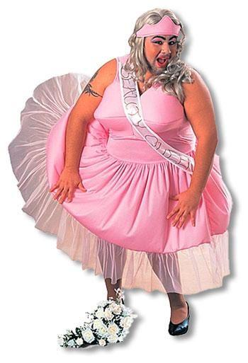 Fat beauty queen costume
