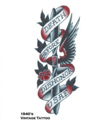 Death before Dishonor Tattoo Sticker