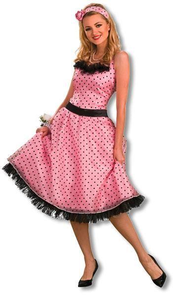 Polka Dot Abschlussball Kostüm M