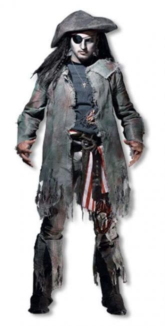 Ghost pirate costume dlx