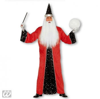 Magician Costume Red L