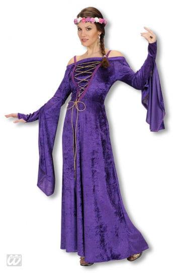 Mittelalter Burgfräulein Kostüm violett M / 38