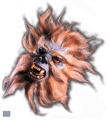 Werewolf half mask gray