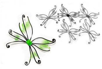 Schmetterlingsflügel grün