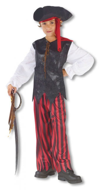 Caribbean Pirate Child Costume Large