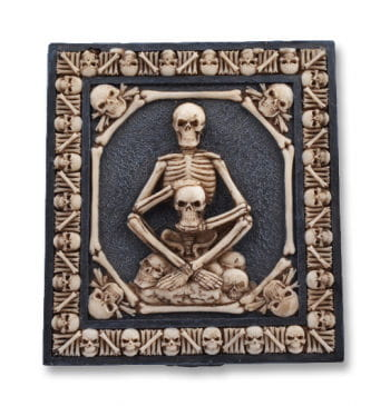 Cigarette Case with Skeletons