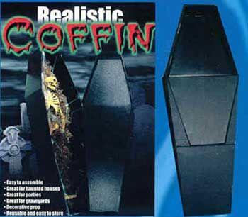 Black Foldable Coffin