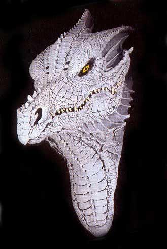 Albino Fantasy Dragon Mask