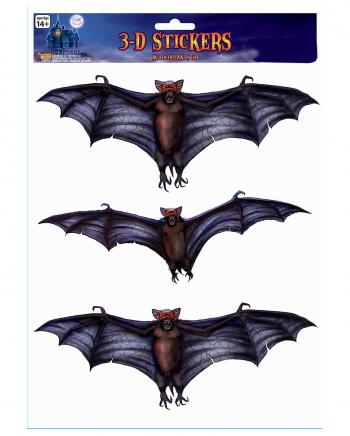 3D Fledermaus Fenster Sticker 3er Set