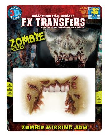 3D FX Transfer Tattoo Wunde Zombie Mund