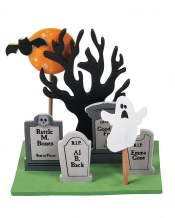 3D Mini Friedhof Steck-Set
