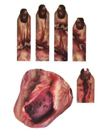 3D Hand Tattoo With Wounds & Maggots