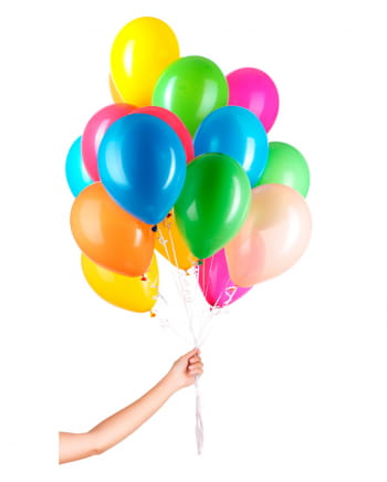50 Latex Balloons For Helium With String