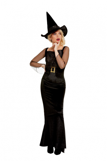Glamorous Witch Witch Costume Black For Women