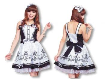 Gothic Lolita Kleid mit passendem Haarreif