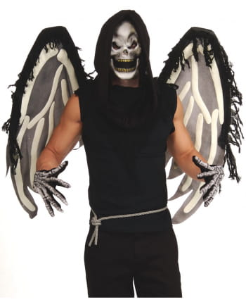 6-pcs. skeleton costume set