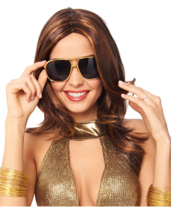 70s Style Sonnenbrille gold