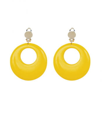 80s neon yellow earrings
