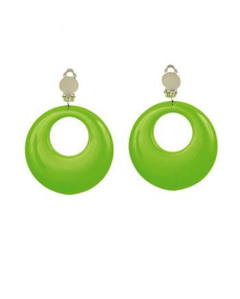 80er Jahre Ohrringe Neongrün