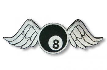 8-ball Patch mit Flügeln