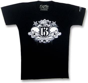 Crowned Double Skull T Shirt Gr. S