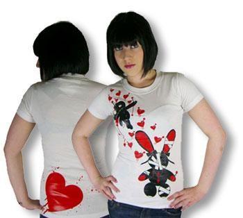 Girlie Shirt Luv Voodoo weiß M
