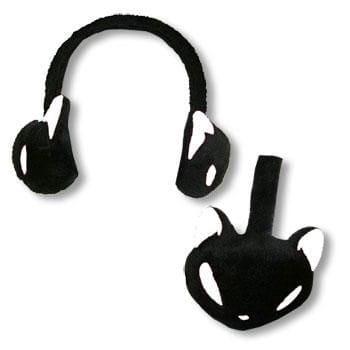 Ohrenwärmer Kitty schwarz weiß