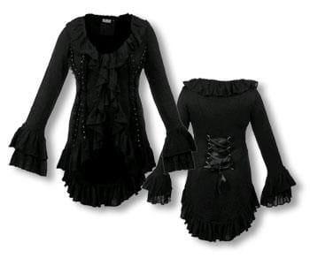 Gothic Cardigan Bolero Ruffled S
