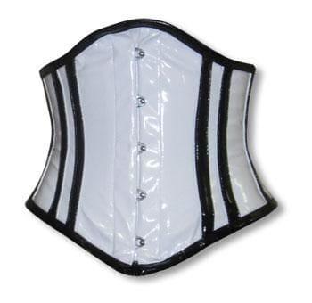 PVC Corset White and Black XL