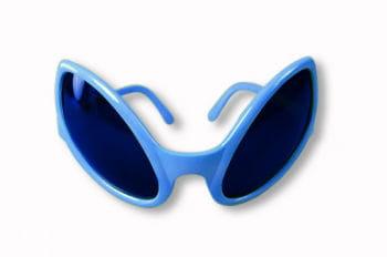 Alien blue sunglasses