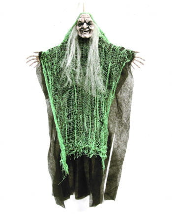 Old witch in shred green 67 cm