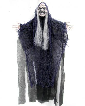 Old Witch in Fetzenlook violett 67 cm