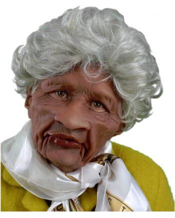 Grumpy Granny Mask With Hair