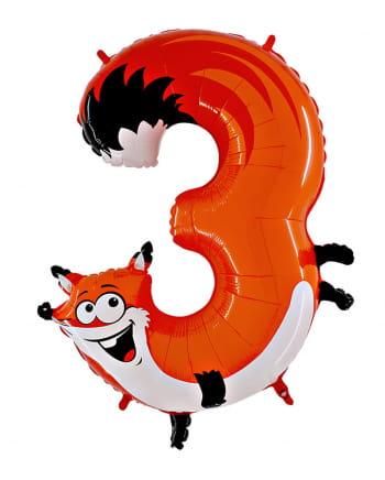 Animaloon Zahl 3 Fuchs