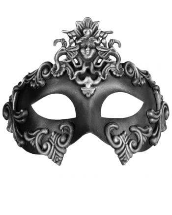 Antike Augenmaske silber-schwarz