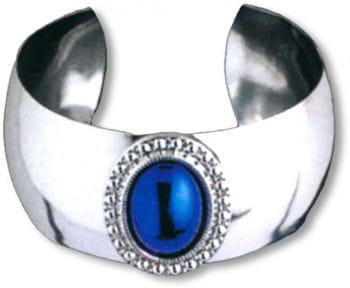 Armreif silber mit blauem Stein