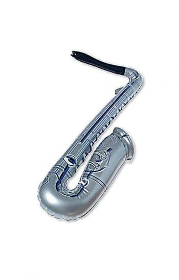 Aufblasbares Saxofon silber