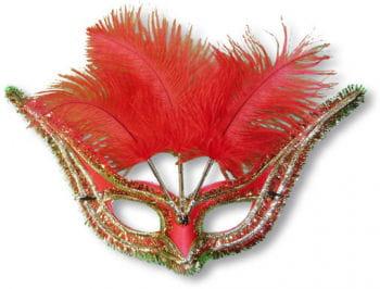 Venetian Eye Mask Red