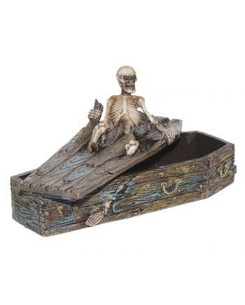 Erupting Skeleton in Coffin Box