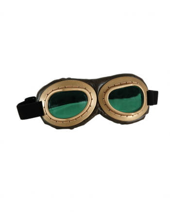 Aviator Glasses Gold / Brown - Green glasses