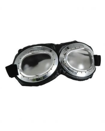 Aviator Brille Silber/Schwarz - Klar