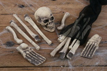 Bag of bones halloween decoration tabledecoration party for Bag of bones halloween decoration