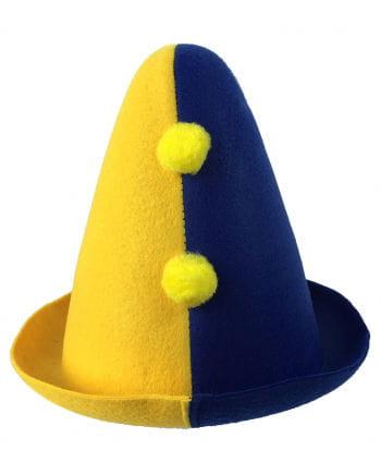 Bajazzo Kinderhut gelb-blau