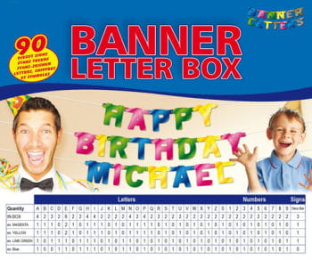 Banner letters Box